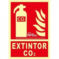 SEÑAL EXTINTOR CO2 PVC 0,7...