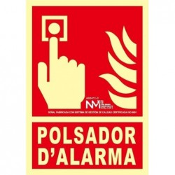 SEÑAL POLSADOR D'ALARMA PVC...