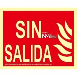 SEÑAL SIN SALIDA PVC 0,7mm...