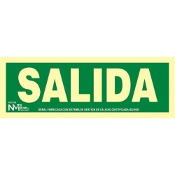 SEÑAL SALIDA PVC 0,7mm...