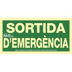 SEÑAL SORTIDA DÉMERGENCIA...