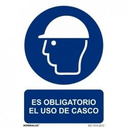 SEÑAL OBLIG USO DEL CASCO...