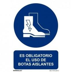 SEÑAL OBLIG USO DE BOTAS...