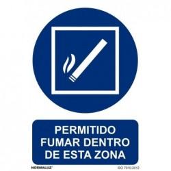 SEÑAL PERMITIDO FUMAR EN...