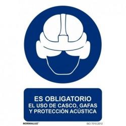 SEÑAL OBLIG CASCO GAFAS Y...