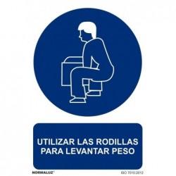 SEÑAL UTILIZAR LAS RODILLAS...