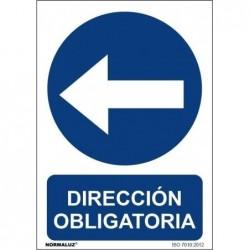 SEÑAL DIRECCION OBLIGATORIA...