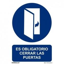 SEÑAL OBLIGATORIO CERRAR...