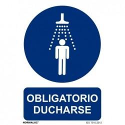 SEÑAL OBLIGATORIO DUCHARSE...