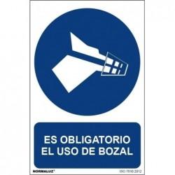 SEÑAL OBLIGATORIO BOZAL PVC...