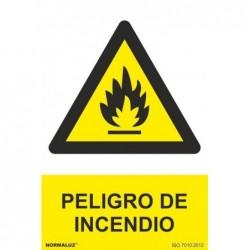 SEÑAL PELIGRO DE INCENDIO...