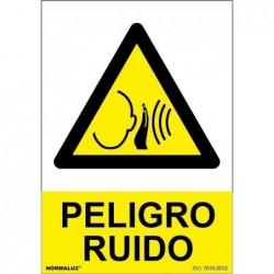 ALUM PELIGRO RUIDO 210X300mm
