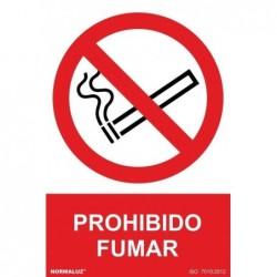 SEÑAL PROHIBIDO FUMAR PVC...