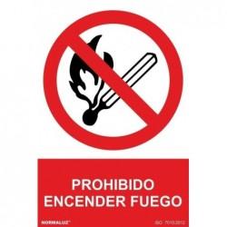 SEÑAL PROHIBIDO ENCENDER...