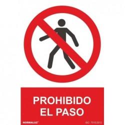 SEÑAL PROHIBIDO EL PASO PVC...