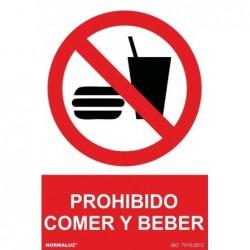 SEÑAL PROHIBIDO COMER Y...