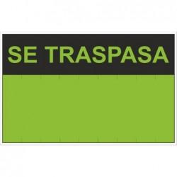 SEÑAL SE TRASPASA PVC 0,4mm...