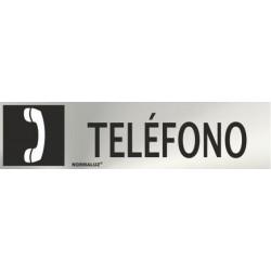 SEÑAL INOX TELEFONO 200X50mm