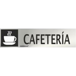 SEÑAL INOX CAFETERIA 200X50mm