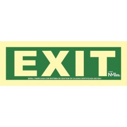 SEÑAL EXIT PVC 0,7mm Clase...