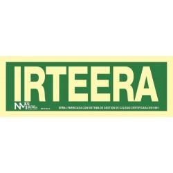 SEÑAL IRTEERA PVC 0,7MM...