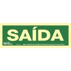 SEÑAL SAIDA PVC 0,7MM CLASE...