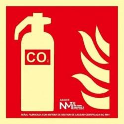 SEÑAL EXTINTOR CO2 PVC 1mm...