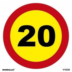 SEÑAL VIAL LIMITE 20km PVC...