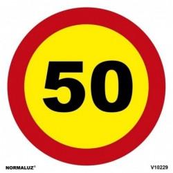 SEÑAL VIAL LIMITE 50km PVC...