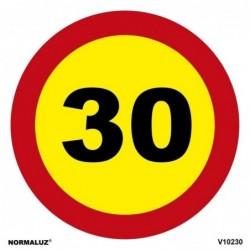 SEÑAL VIAL LIMITE 30km PVC...