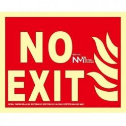 S. NO EXIT ALUMINIO CLASE A...